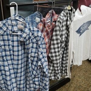 Set of 5 lucky brand shirts large